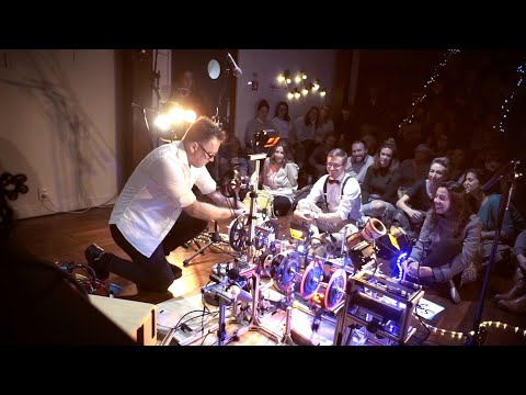 The Rhysonic Wheel Bridges Programmed Percussion with Acoustic Guitar for a Captivating One-Man Ensemble   Colossal