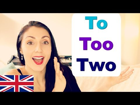 TO, TOO & TWO What's the Difference | Live English Lesson Writing Practice