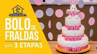 ⭐ DIAPER CAKE FOR BABY GIRL TUTORIAL IN 3 STEPS