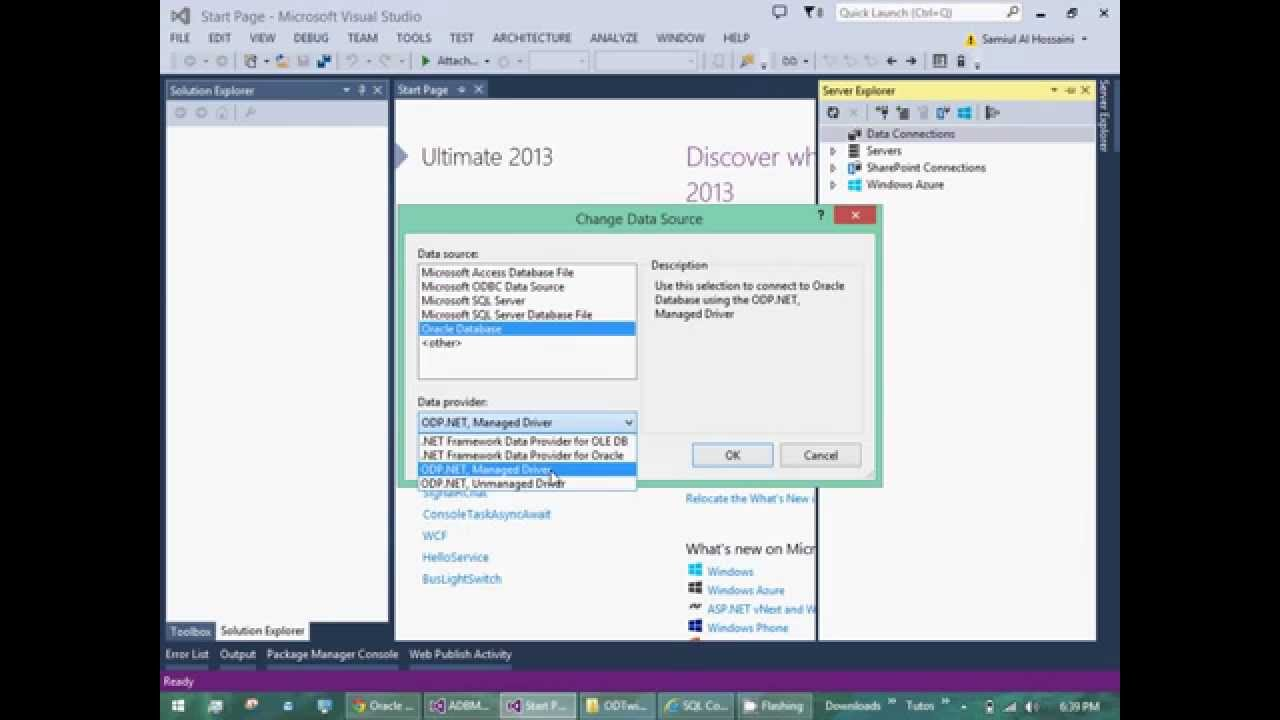 Download Best way to connect Oracle with Visual Studio .NET (no BadImageFormatException or mismatch error)