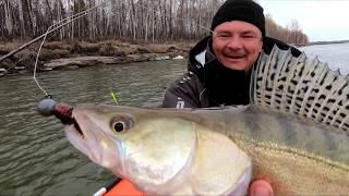 Спиннинг весной. Судак на джиг. Поролоновая рыбка. Весенняя рыбалка 2020. Крупный судак на спиннинг