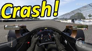 Massive IndyCar Crash! Forza Motorsport 6 Demo #2