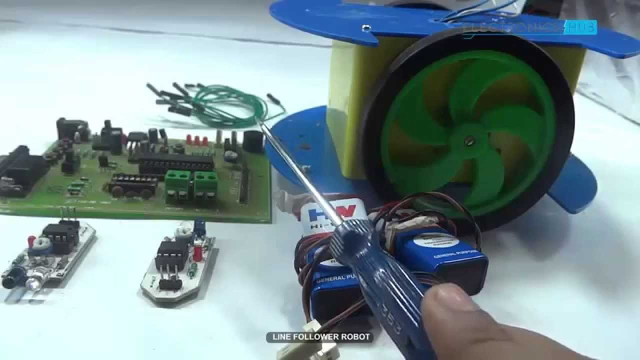 How To Build A Line Follower Robot Using Microcontroller Youtube Driver On