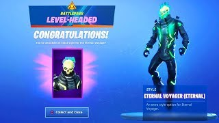 "Level 60 Eternal Voyager ""ETERNAL"" Skin Unlocked! Fortnite Season X Max Battle Pass Skin"