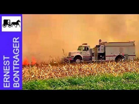 Corn Field Fire in Central Illinois