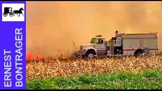 Corn Field Fire in Central Illinois