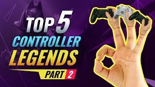 Top 5 Controller SAVAGES in SEASON 10! - Fortnite Battle Royale