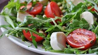 Очень вкусный салат с рукколой и сыром фету