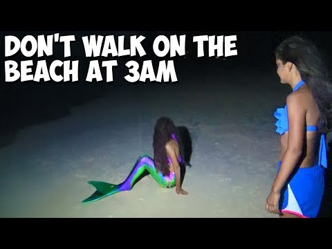 Don't Walk On The Beach At 3am - Mermaid Jump Scare !