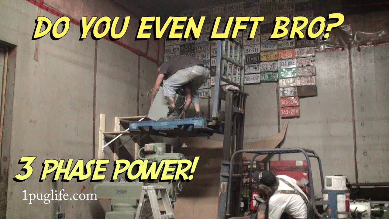 hooking up three phase power in the home shop - YouTube