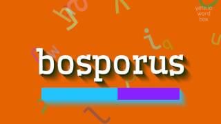 How to saybosporus