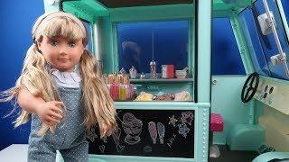 Oyuncak Bebeklerime DEV Dondurma Arabası. Oyuncak Bebeklerimin Yeni Mesleği ! Bidünya Oyuncak