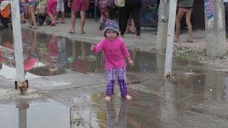Топ по лужам, дождь по лужам. Железный порт 2015