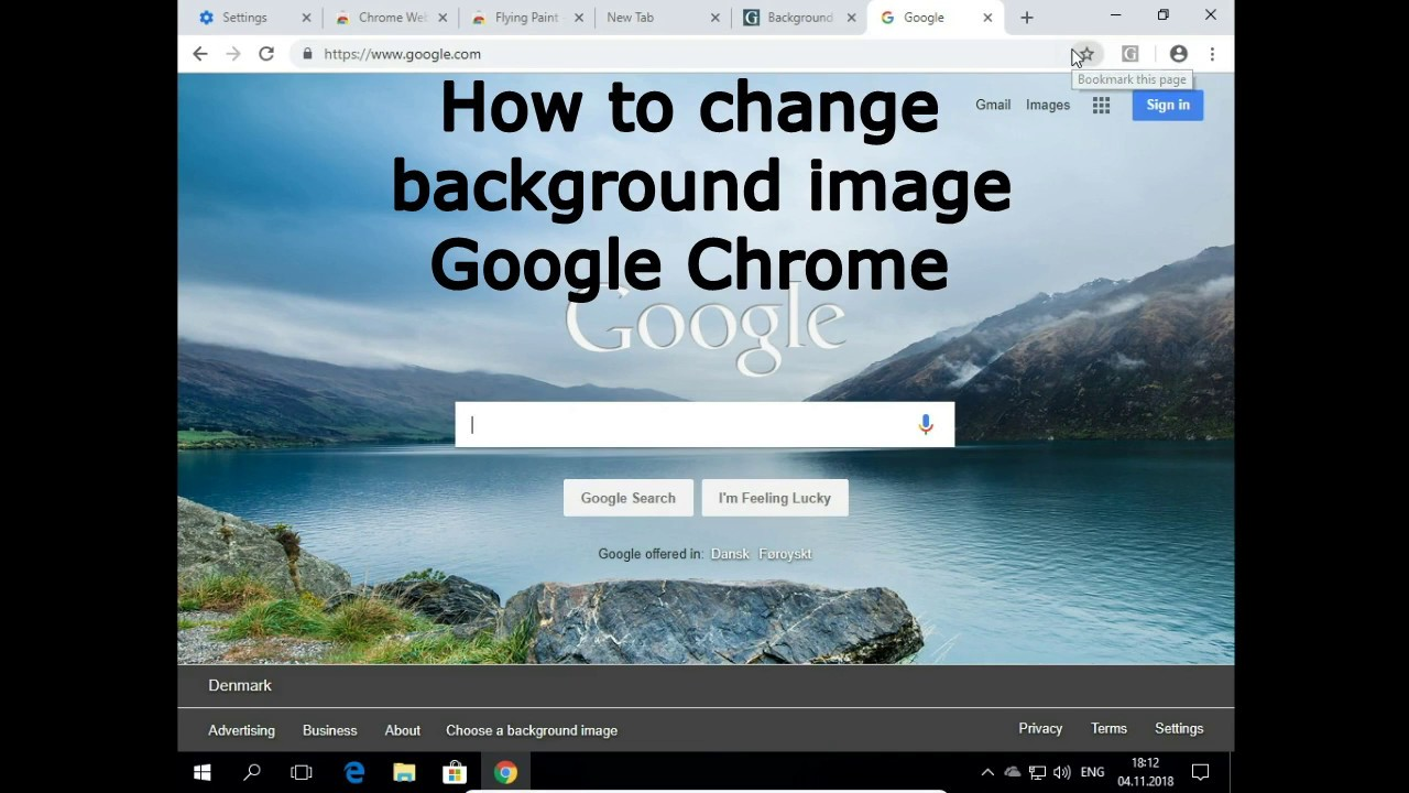 How to change background image in Chrome