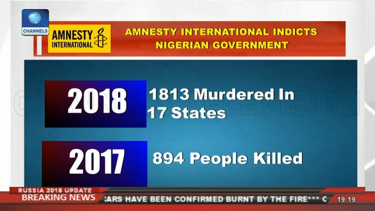 Amnesty International Indicts Nigerian Government | Politics Today |