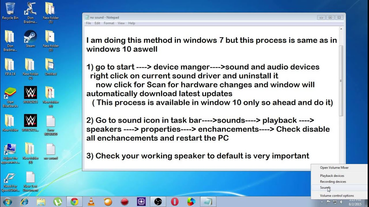 How to fix No sound audio sound problem sound issues Windows 10 upgrade