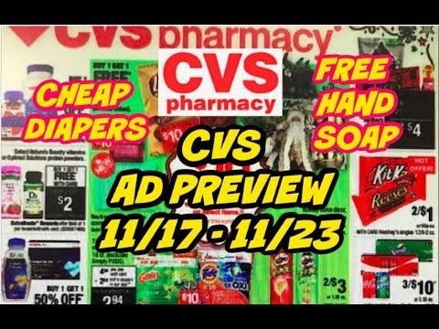 CVS AD PREVIEW 11/17 - 11/23 | FREE HAND SOAP, CHEAP DIAPERS & MORE!