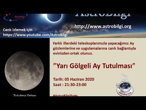 AstroBilgi Evde: Yarı Gölgeli Ay Tutulması