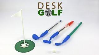 Desk Golf Mini Game - 3D printed - by Urbano Rodriguez