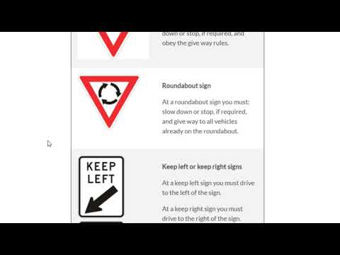 Road Signs In Australia | Traffic Signs And Symbols