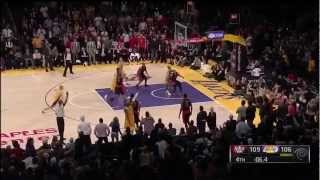 """Kobe Bryant """"Willing"""" the Lakers To Victory (March 8, 2013)"""