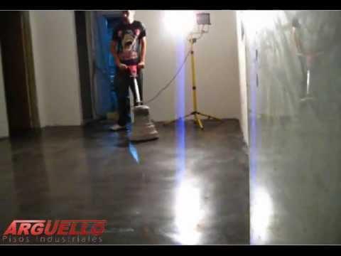 Pulido de pisos de cemento parte 2 youtube for Piso de concreto cera cocina