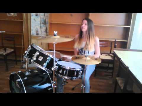 Skillet - Whispers in the Dark (drum cover by Vlastasia)