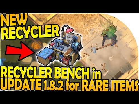 NEW RECYCLER BENCH in UPDATE 1.8.2 for RARE NEW ITEMS! - Last Day On Earth Survival Update 1.8.1