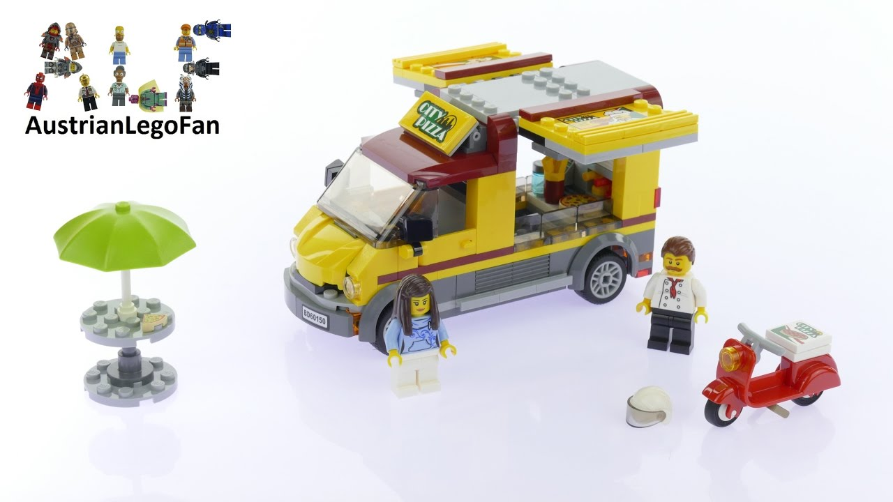Lego City 60150 Pizza Van Lego Speed Build Review Youtube