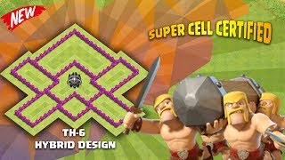 TOWN HALL - 6 Hybrid / War Design #2018 ( Recommended by many COC players )   Clash Of Clans