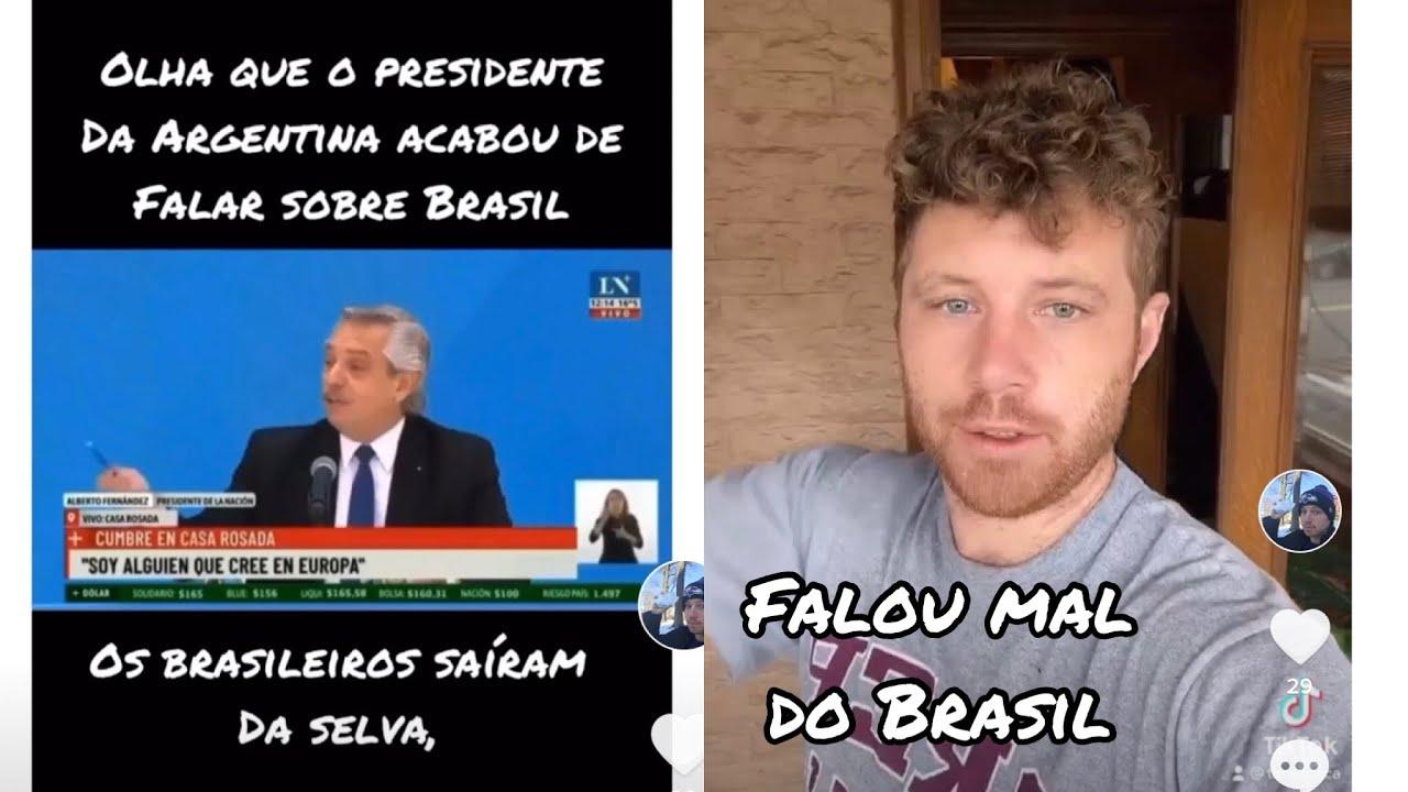 """O Presidente da Argentina """" Os Brasileiros saíram da Selva"""" Tim Desabafo #shorts"""