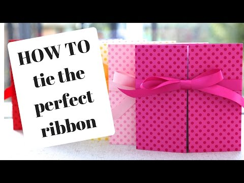 How To Tie A Ribbon: Wedding Invitations