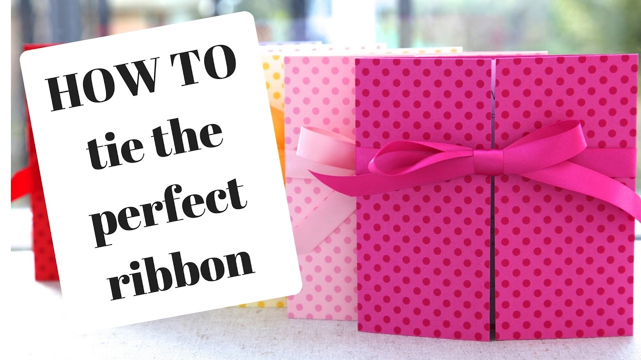 How To Tie A Ribbon: Wedding Invitations - YouTube