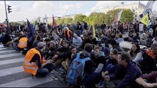 Climat : Extinction Rebellion bloque la Place du Châtelet (7 octobre 2019, Paris)
