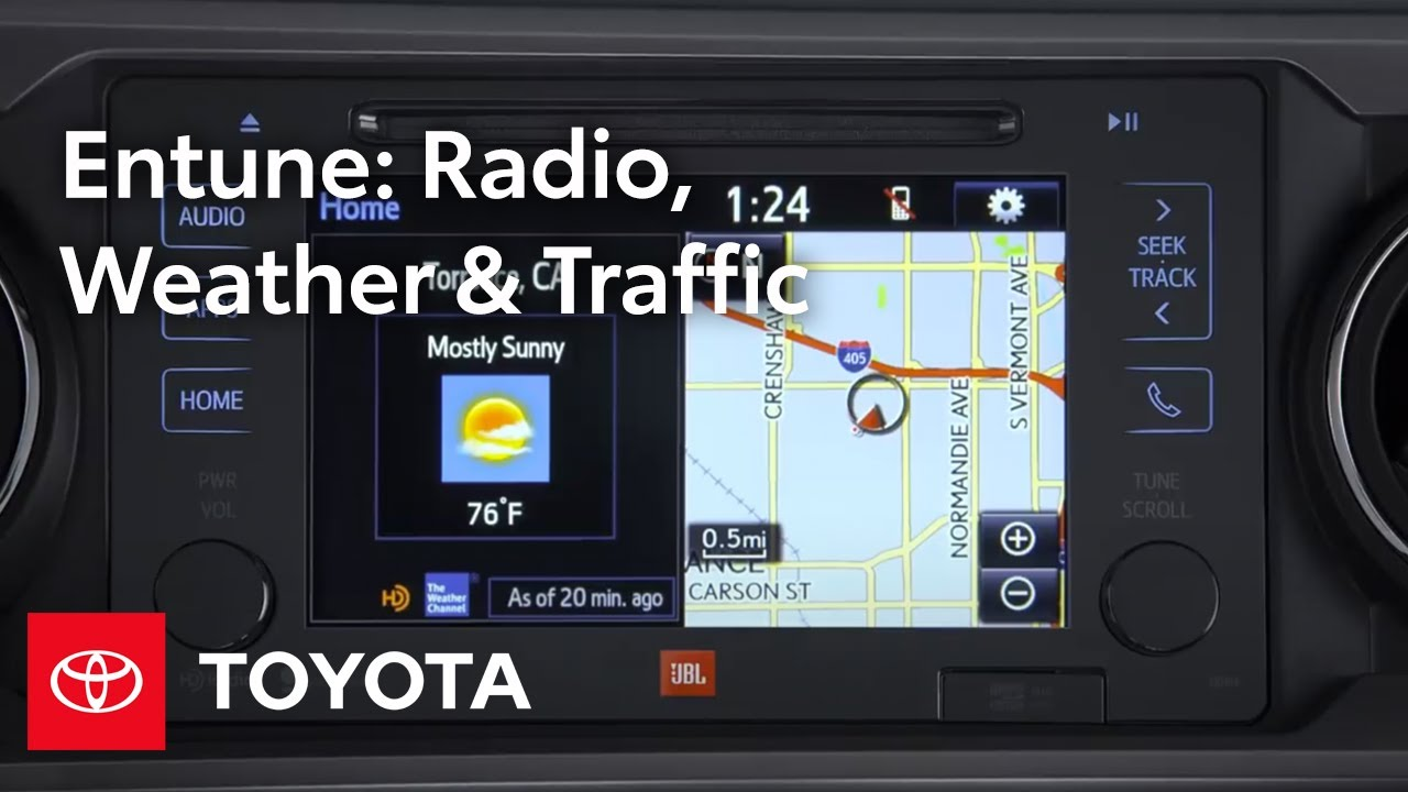 Toyota Entune l HD Radio, Weather, and Traffic | Toyota on map services, map scores, map rules, map data, map books, map graphics, map photography,