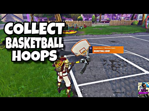 COLLECT PARTS FROM BASKETBALL HOOPS| HIT THE HOOPS| FORTNITE SAVE THE WORLD