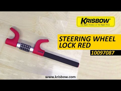 KRISBOW STEERING WHEEL LOCK RED 10097087