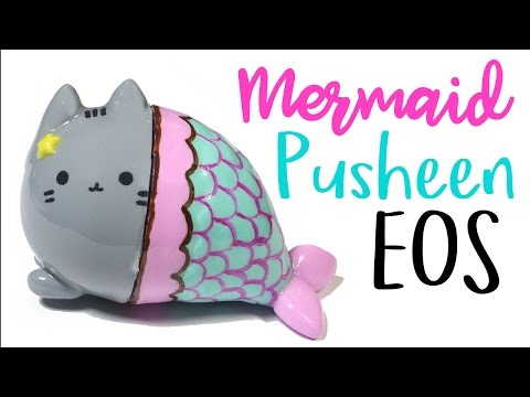 How to DIY Mermaid Pusheen Custom EOS Tutorial ft. PuddingFishCakes!