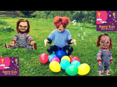 LEARN COLORS with CHUCKY the doll | Balloon pop | Chuckie | Nursery Rhymes
