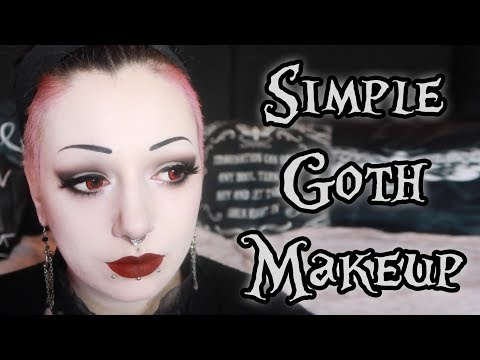 Simple Goth Makeup Tutorial | Toxic Tears AD