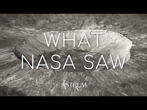 What did NASA's Lunar Orbiter discover around the Moon's craters? LRO 4K