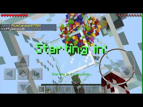 Jugando skywars minecraft fils y crack