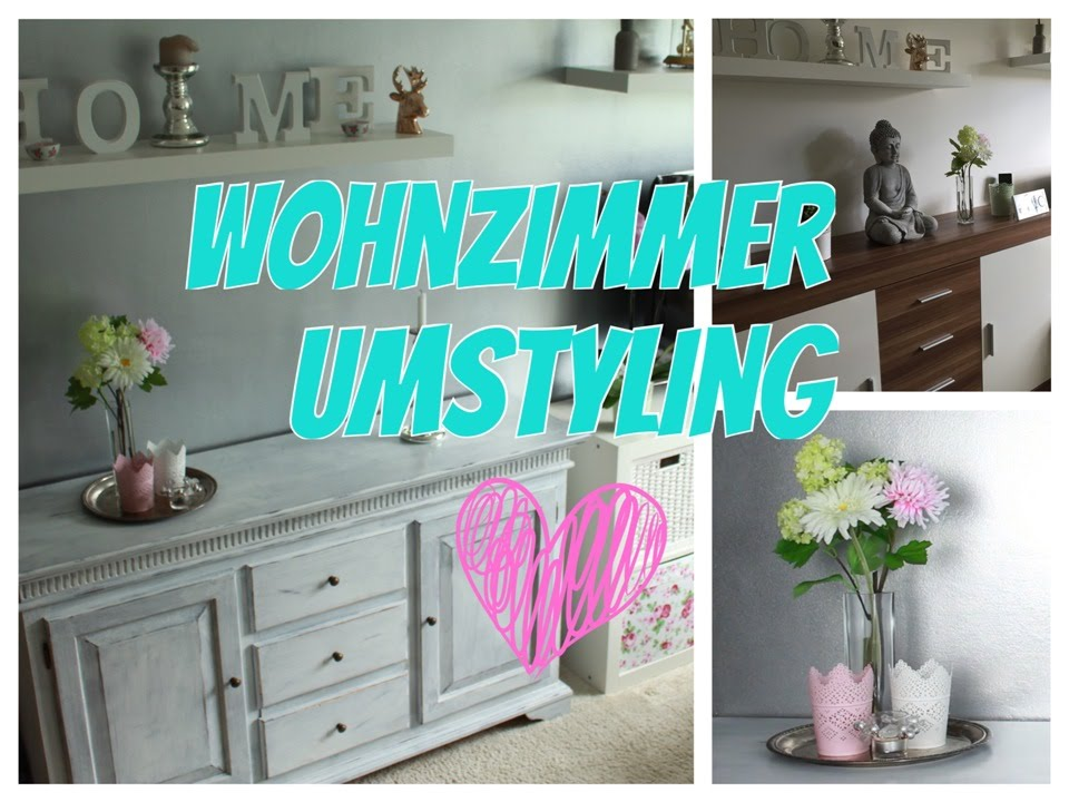 wohnzimmer umstyling streichen einrichten shabby chic vintage. Black Bedroom Furniture Sets. Home Design Ideas
