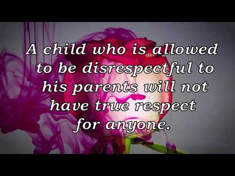 Quote About Child Disrespecting Parents By Bill Graham Youtube