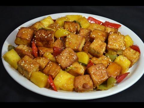 Tofu agridulce - Comida Vegetariana China