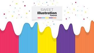 Sweet Graphic Design in Illustrator - Adobe Illustrator Tutorial - Free Download