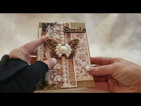 Shaby Rustic Stamperia Old Lace Cards For Asc Supplies On Etsy Youtube
