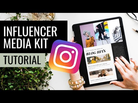 Instagram Influencer Tip | How To Make To A Media Kit For Free And What To Include To Attract Brands