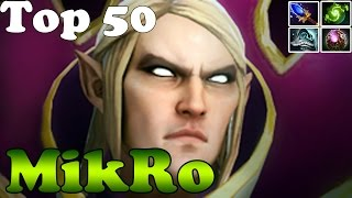 Dota 2 - MikRo top 50 in dotabuff Plays Invoker vol 5 - Ranked Match Gameplay