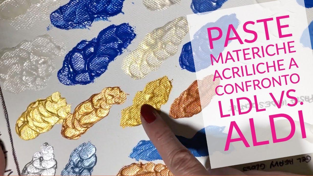 Paste per pittura materica - Lidl vs. Aldi - Dipingere ad ...